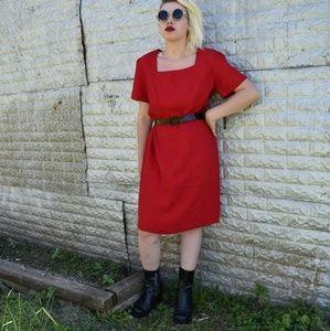 Vintage Decade Designs Red Dress